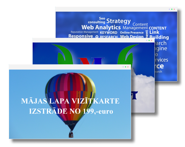 Mājas lapas vizītkartes izstrāde