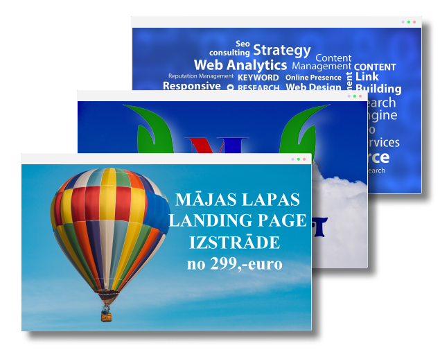 Landing page izstrāde